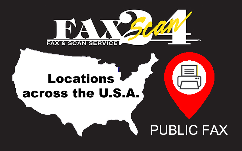 FaxScan 24 Kiosk Locations across the U.S.A.
